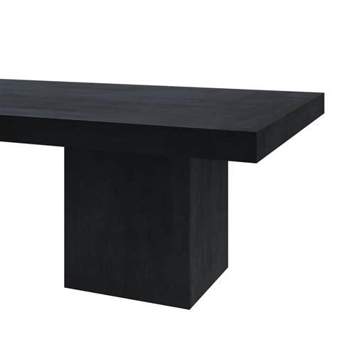 solid wood sutton rustic block double pedestal large