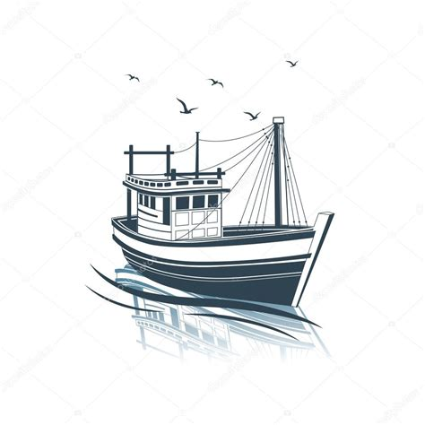 fishing boat vector stock vector 169 10comeback 109360202 - Fishing Boat Clipart Vector