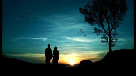 imagenes abstractas de parejas pareja en puesta de sol fondos hd