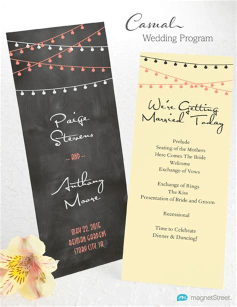 wedding invitations program wedding program wording magnetstreet weddings