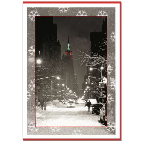 Nyc Gift Card - empire state building night ny christmas boxed cards set of 10 ny christmas gifts