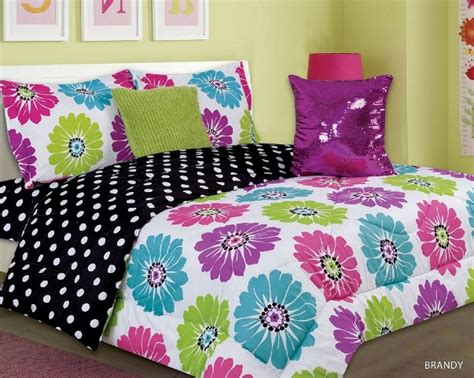Bright Pink Comforter by 4 5pc Bright Pink Purple Lime Aqua Floral Design Kid S