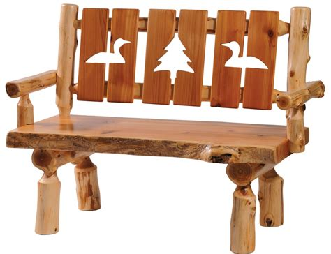 log cutting bench cedar 48 quot cut out back armrests log bench from fireside