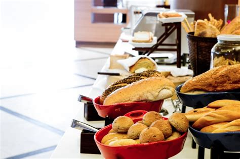 types of for buffet buffet with different types of bread photo free