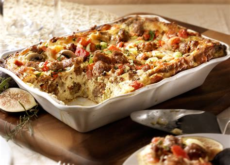 recipe for strata sicilian strata baked egg with hot italian sausage