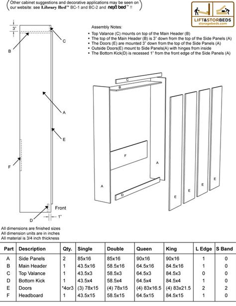 diy murphy bed hardware kits  sale lift stor beds