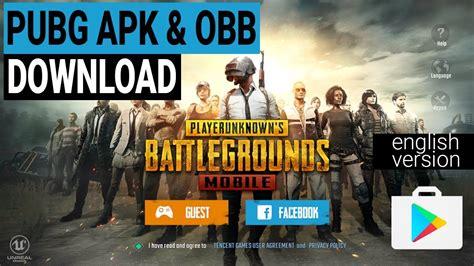 latest pubg mobile english version apk obb file
