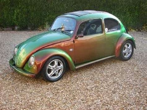 vw beetle with a chameleon paint iridescent sparkly cars vw beetles brand