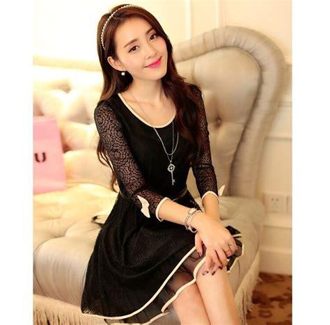Ready Hitam Dress Kode 429 dress hitam pendek korea terbaru myrosefashion