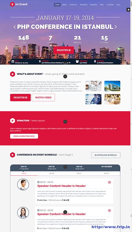 10 Best Event Landing Page Templates For Event Concerts Conferences Frip In Event Landing Page Template Free
