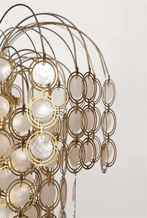 Brass And Abalone Shell Chandelier At 1stdibs Abalone Shell Chandelier