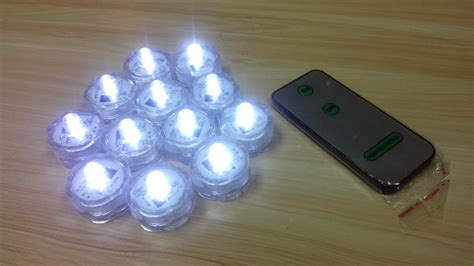 single mini led lights 36pcs lot floralyte remote white submersible mini