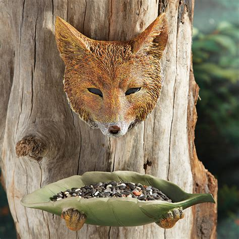 fox tree face bird feeder clearance