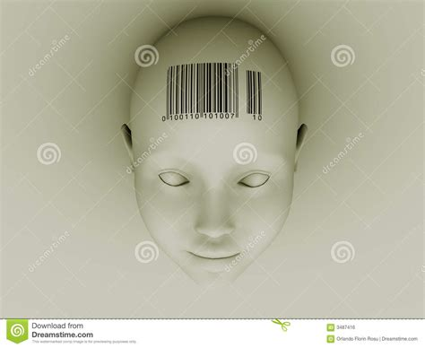 barcode tattoo on head barcode head royalty free stock image image 3487416