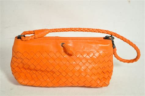 Bottega Veneta Toggle Baguette by Bottega Veneta Orange Leather Woven Baguette Bag Ebay