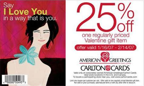 Carlton Cards Gifts - carlton cards canada 25 off valentine gift canadian freebies coupons deals