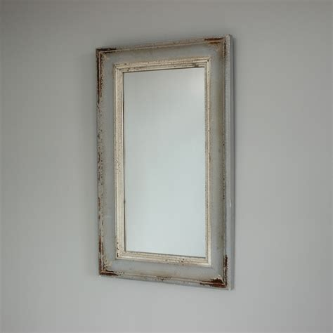 grey bathroom mirror grey wooden wall mirror shabby vintage chic country