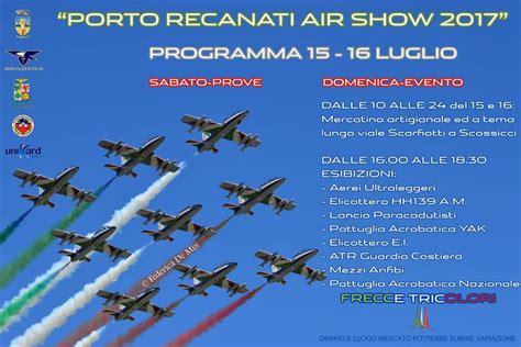 eventi porto recanati air show delle frecce tricolore 15 e 16 luglio porto
