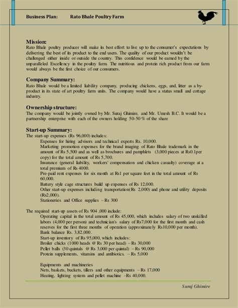 poultry business plan template business plan poultry industry