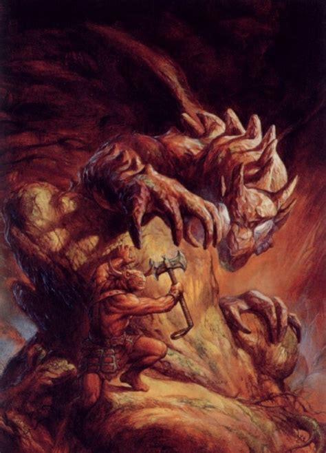 Jeff Easley Kerlaft 017 Illustrations by Dragonlance Heroes Kaz The Minotaur By Jeff Easley