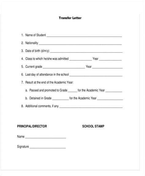 school letter templates sample format
