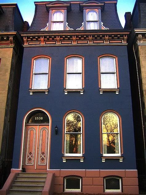 st louis dreams navy townhouse beautiful blue house exterior painting colors colors