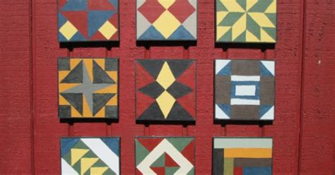 Painted Quilt Squares by Barn Quilt Civil War Barn Quilt 9 Painted Barn Quilt