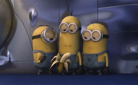 imagenes de minions moviendose banana minions gif find share on giphy