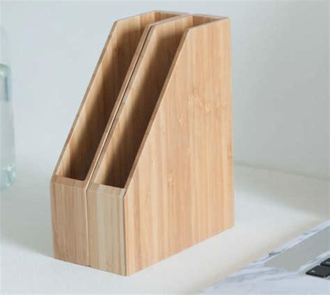 bamboo desk office magazine  file folder organizer