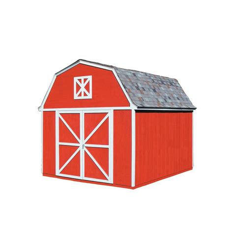 handy home products berkley 10 ft x 12 ft wood storage