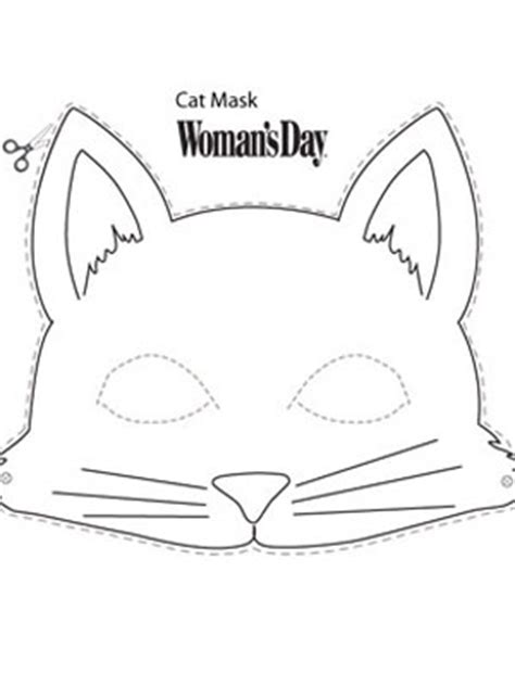 printable mask of cat cat mask cat mask construction paper and masking