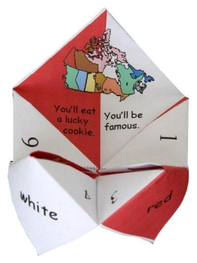 Fortune Teller Paper Craft - 17 best images about canada day crafts on