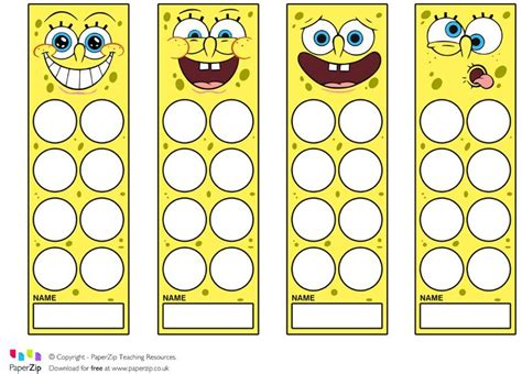 printable reward bookmarks 563 best images about sponge bob printables on pinterest
