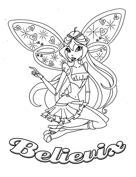 winx bloom coloring pages coloring pages