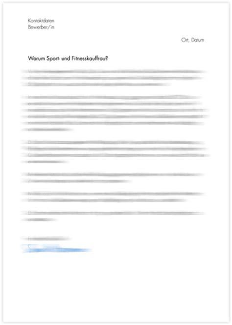 Bewerbung Anschreiben Vorlage Sport Und Fitnesskaufmann Motivationsschreiben Sport Und Fitnesskauffrau Sport Und Fitnesskaufmann