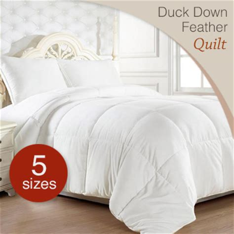 duck feather bed quilt w cotton japara cover buy