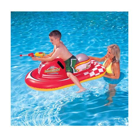 new inflatable childrens ride on pool lilo float boat - Inflatable Boat With Water Pistol