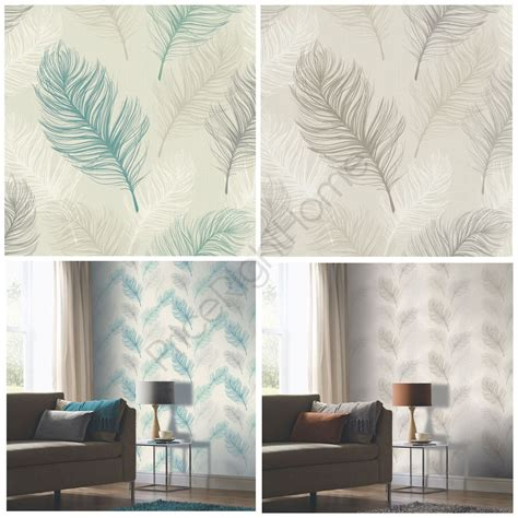 teal feature wall bedroom whisper feather wallpaper arthouse taupe teal