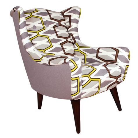 retro armchairs uk libra geometric style wing chair from fusion living