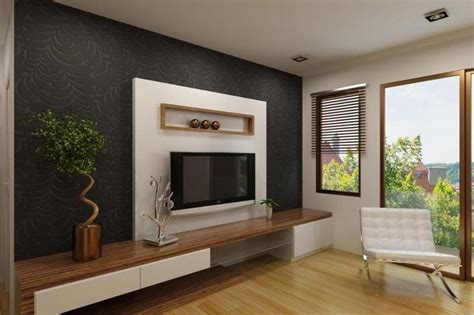 wallpaper design for tv unit elegant white tv cabinet with contrast wallpaper ipc338