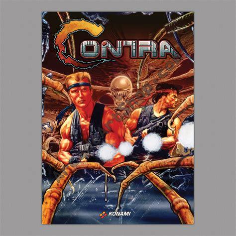 Contra Bass Miniatur Original contra konami large arcade poster 50x70cm arcade shop