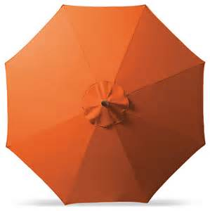 Orange Patio Umbrella Outdoor Market Patio Umbrella In Sunbrella Orange Bronze Aluminum 9 Traditional Outdoor