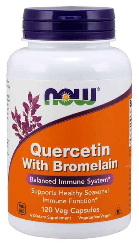 Quercetin Liver Detox by Quercetin With Bromelain Veg Capsules Now Foods