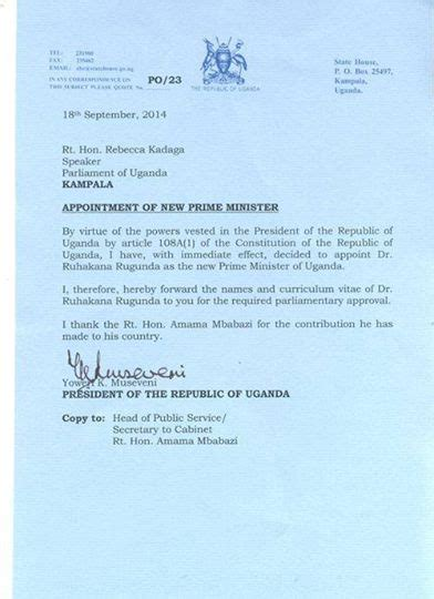 appointment letter uganda bobi wine s message to amama mbabazi never out shine the
