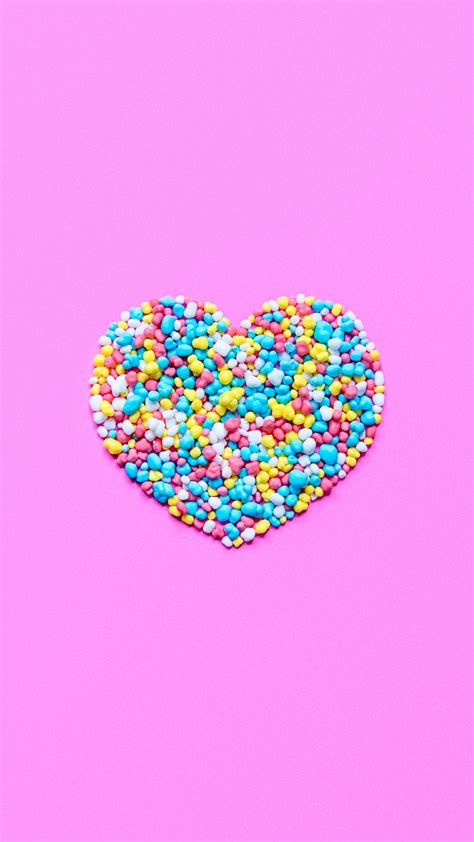 colorful candy shaped heart iphone   hd wallpaper hd