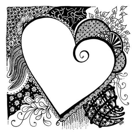 tangled doodle art in time lapse coloring videos and 213 best images about art zentangles hearts on