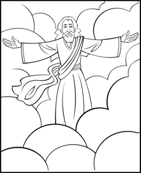 coloring page jesus coming again sunday school coloring page second coming of jesus