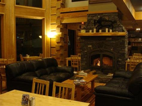 cozy seating area in front of wood fireplace picture of