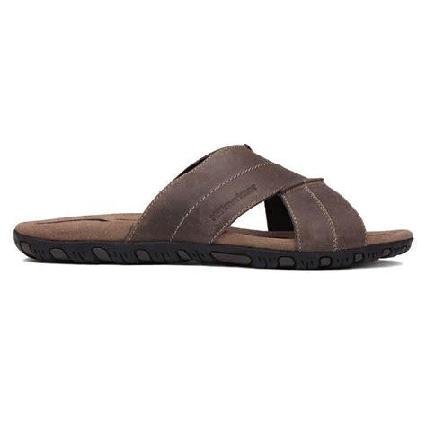 leather mens sandals karrimor lounge slide leather mens sandals
