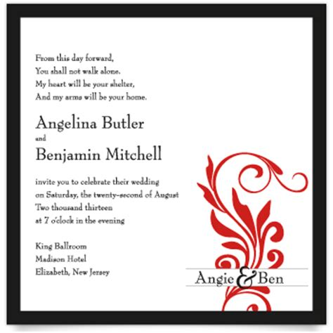 Wedding Ceremony Message Exles by Words On Wedding Invitation Wedding Invitation Ideas